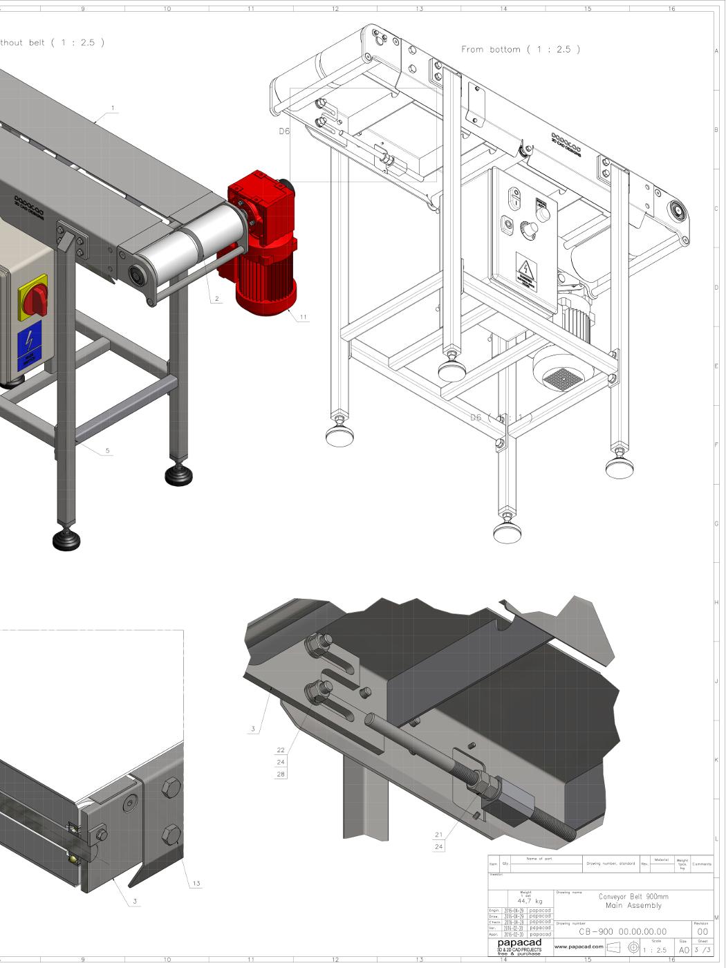 hight resolution of  diy conveyor belt 3d models cad drawings free download