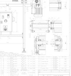 conveyor belt drawing free 2d cad drawings  [ 1050 x 1400 Pixel ]