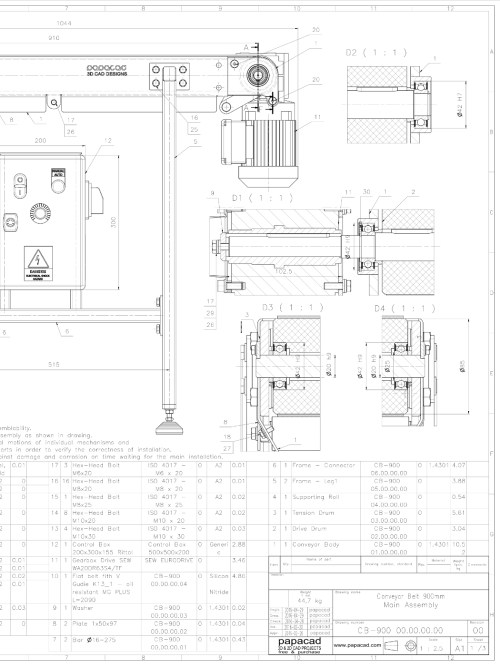small resolution of  conveyor belt drawing free 2d cad drawings