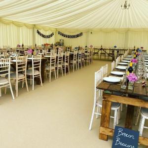 Wedding seating at venue