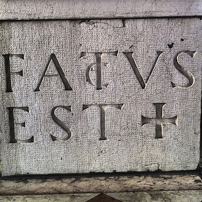 шрифт: FACTUS EST