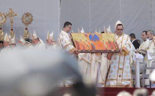 Icoana beatificării celor 7 episcopi greco-catolici