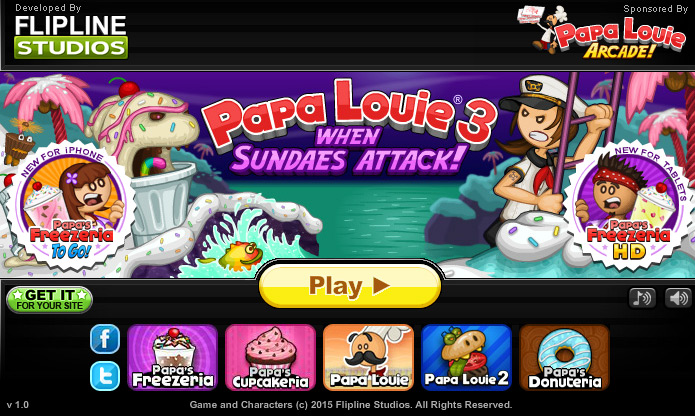 Game Papa Louie Characters