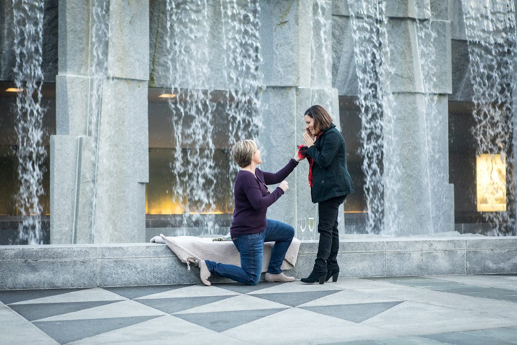 Romantic LGBT Engagement Proposals