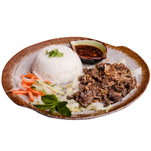 Vietnamese Lemongrass Beef with Rice