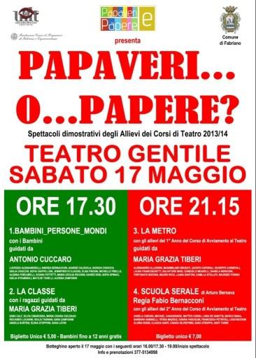 """Manifesto """"Papaveri o...Papere 2014"""""""