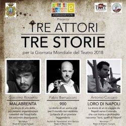 Tre Attori Tre Storie Giornata Mondiale del Teatro 2018 Teatro Gentile Fabriano