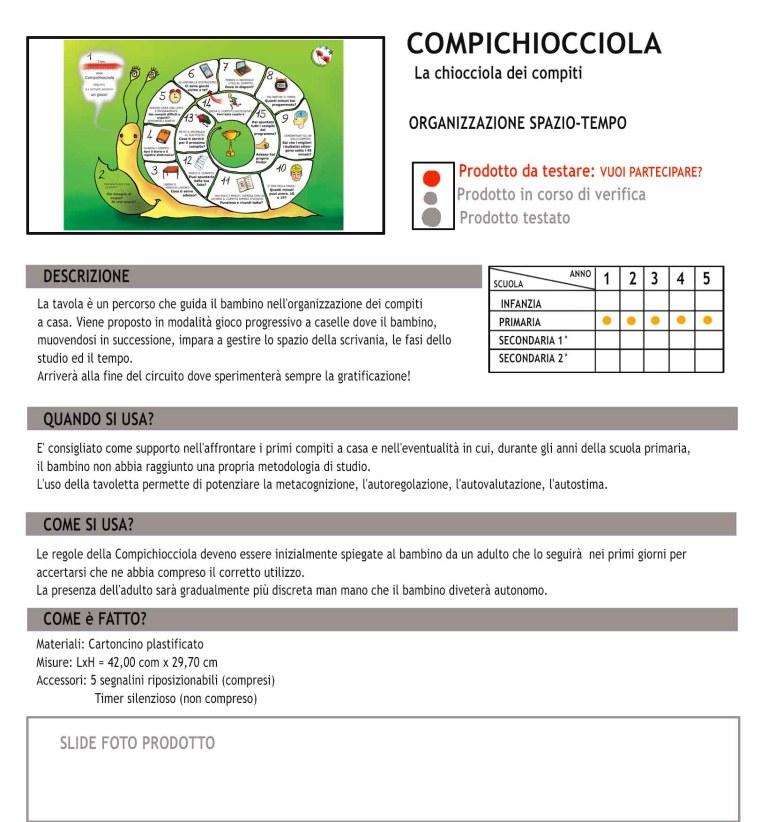 Scheda tecnica COMPICHIOCCIOLA