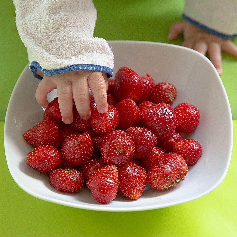Baby-led Weaning Erdbeeren