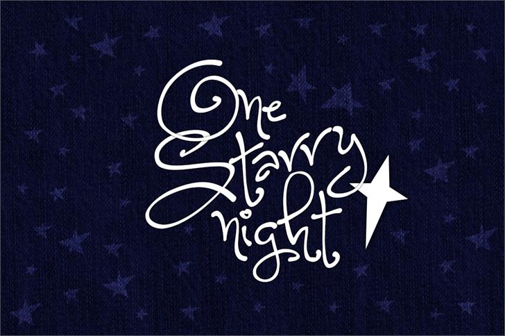 typo one starry night, typo de noël, christmas font