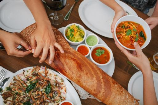 Fresh South Indian Cuisine   Paper Dosa