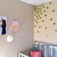 Quick DIY Project Idea: Baby Girl Gold Hearts Nursery Wall ...
