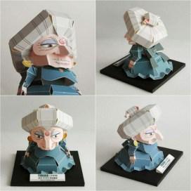 """Papercraft imprimible y recortable de Yubaba personaje de la película """"El viaje de Chihiro"""". Manualidades a Raudales."""