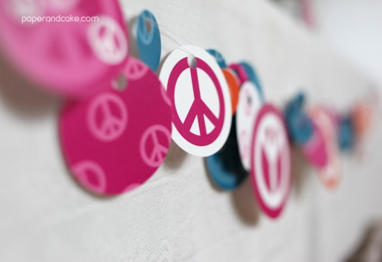 Paper & Cake | Peace, Love and Party Printable Birthday