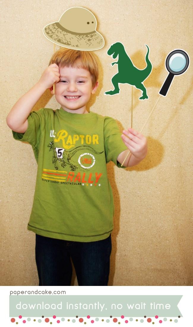 Dinosaur printable photo props