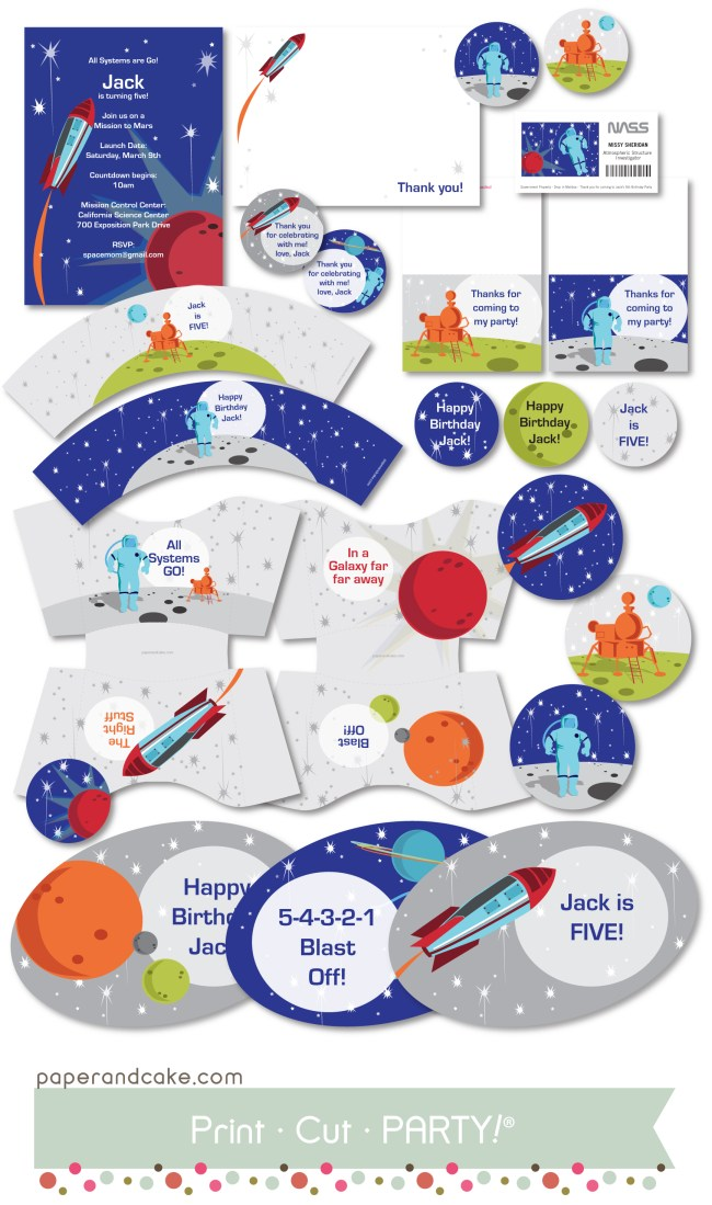 Space Printable Birthday Party