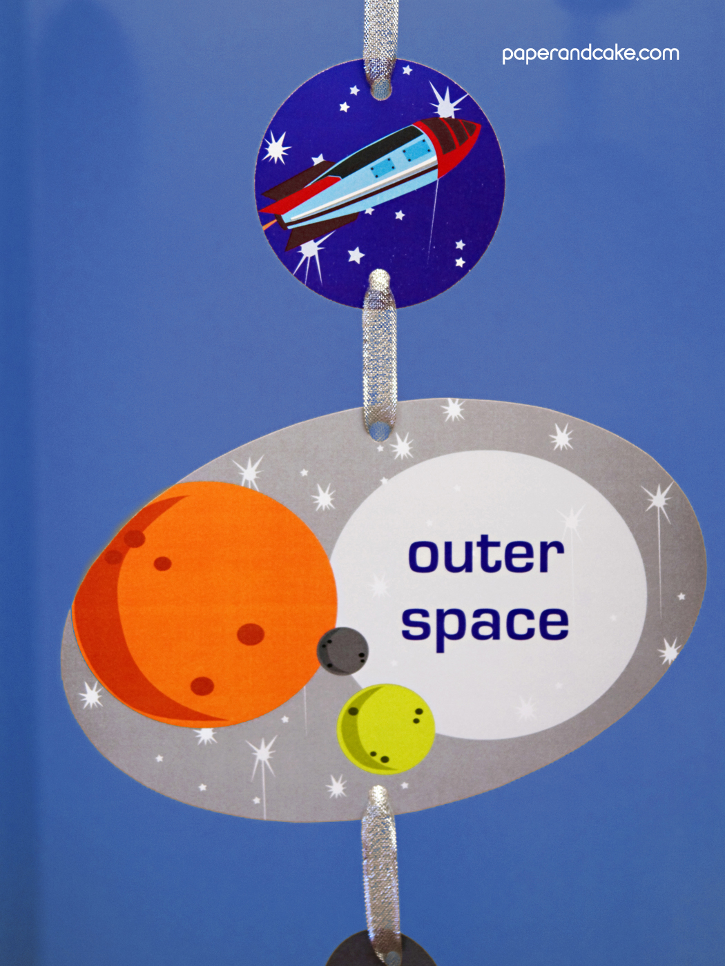 Space Printable Birthday Party  Paper and Cake Paper and Cake