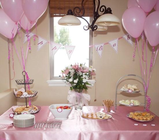 pink plaid printable baby shower