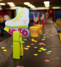 Neon Roller Skate Printable Birthday Party
