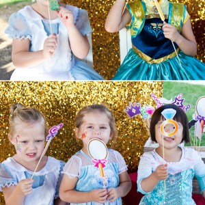 princess printable photo booth props