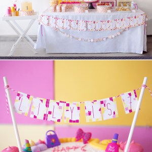 Modern Spa Printable Birthday Party