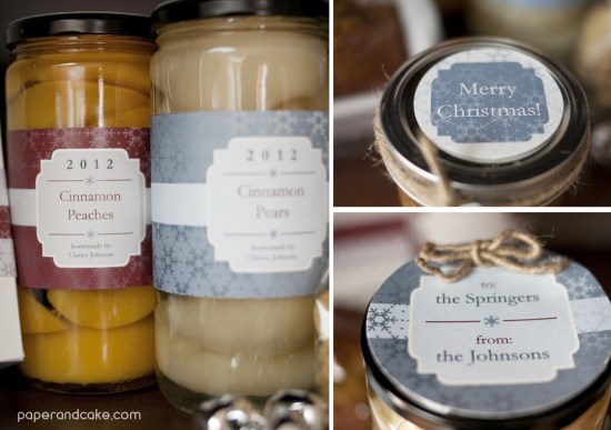 paper and cake winter gift giving setjars