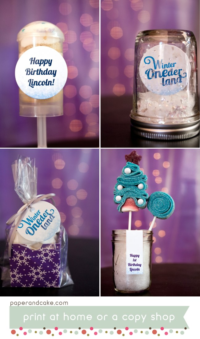 Winter ONEderland Printable Birthday Party