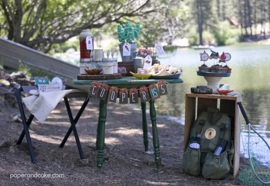 outdoorsman tablescape