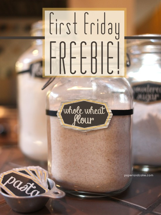 Paper & Cake Free Kitchen Labels Printable Download