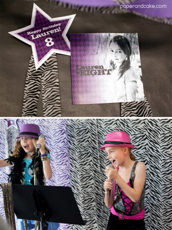 Rock Star printable birthday party decorations