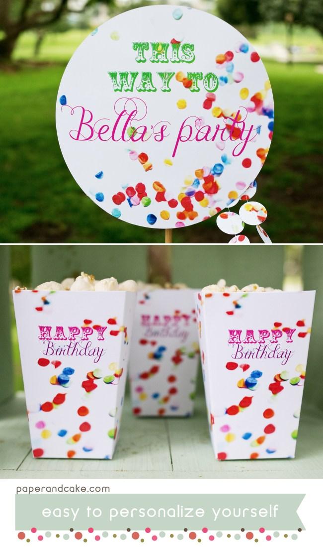confetti printable party