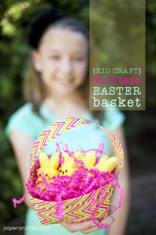 duct tape easter basket craft for kids