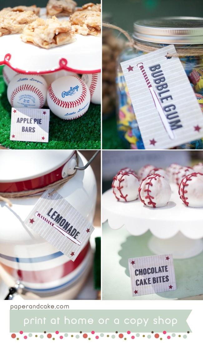 baseball printable party kit