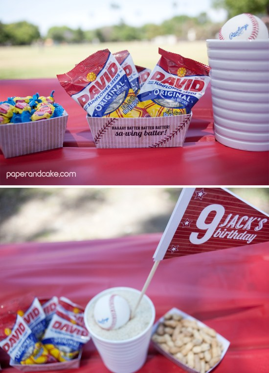 baseball birthday party party favors