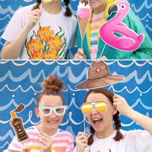 Beach Party Printable Photo Booth Props