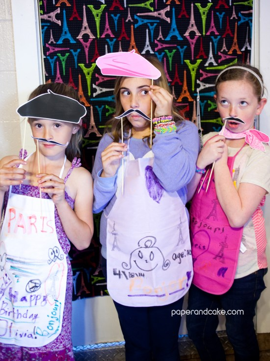 Paris Printable Photo Booth Props mustaches on a stick