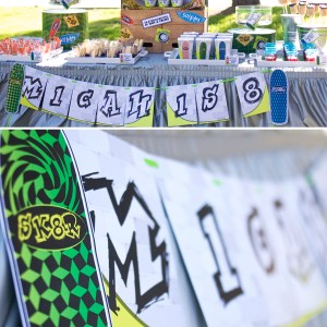 Skateboard Printable Birthday Party
