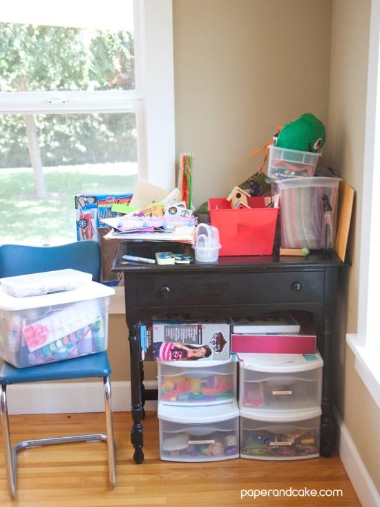 beautifully organized study station