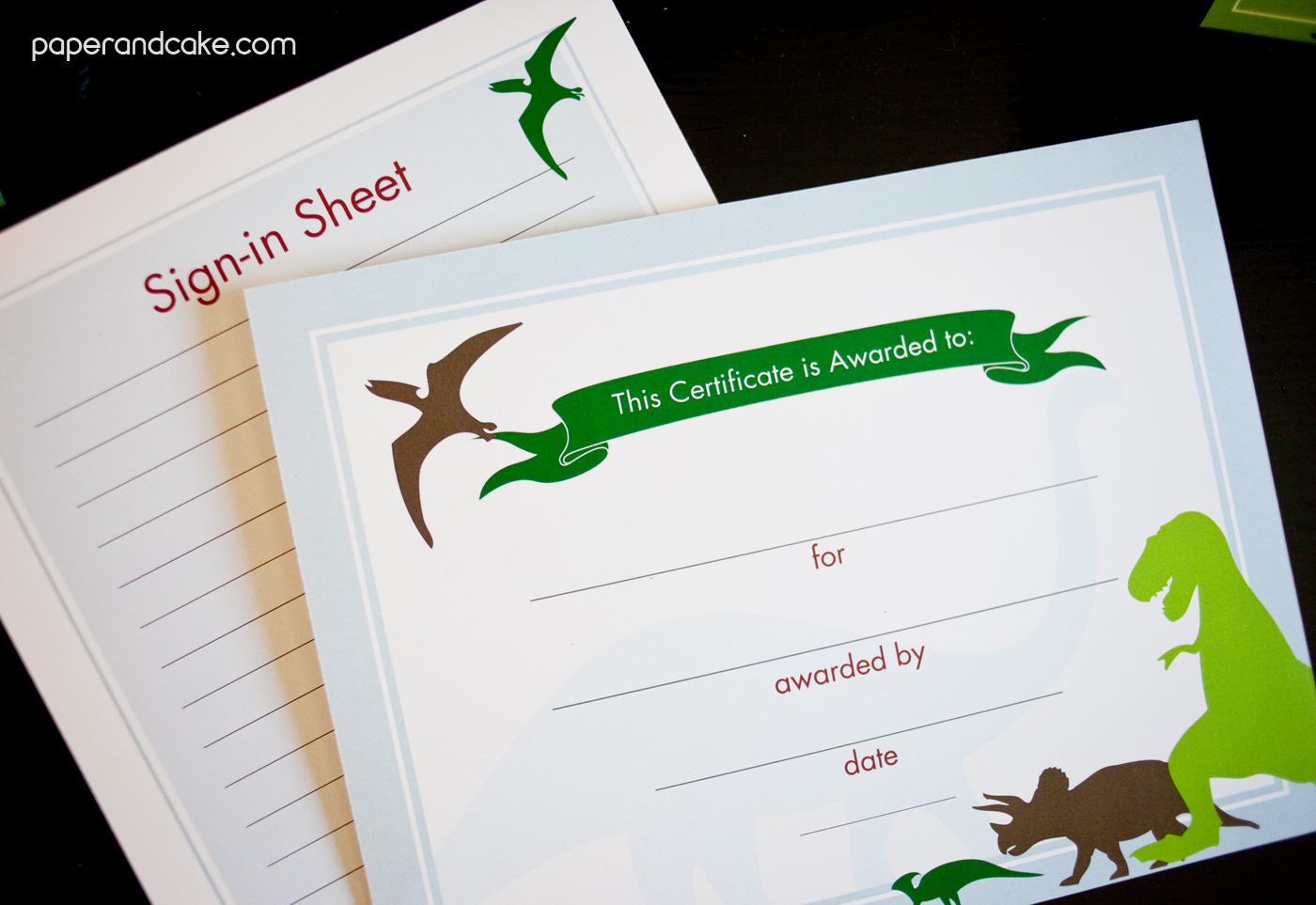 Dinosaur Printable Classroom Decorations Paper And Cake