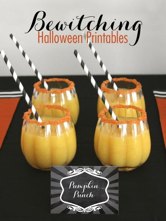 Chalkboard Printables for Halloween