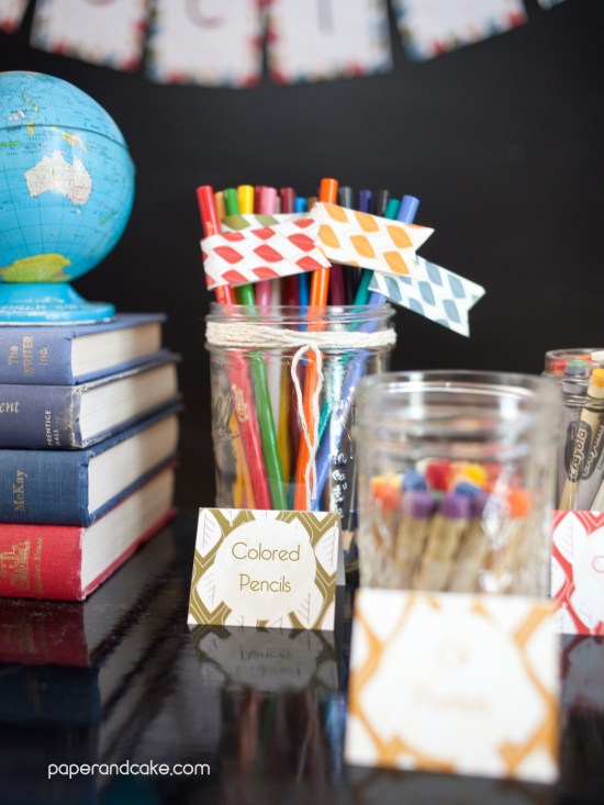school decorations for teachers by paper and cake