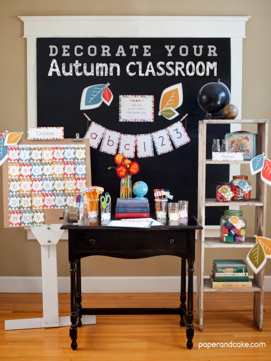 school decorations for teachers Fall themed