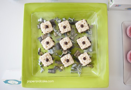 themed rice krispie treats