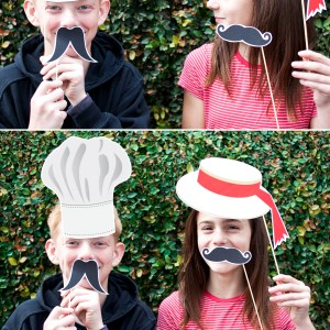Printable Italian Photo Booth Props