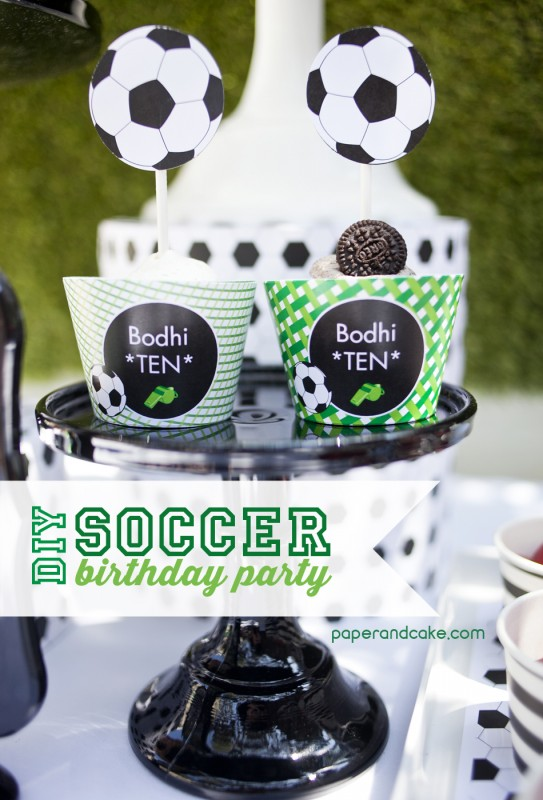 Soccer Birthday Party GOOOAAAL  Paper and Cake Paper and Cake