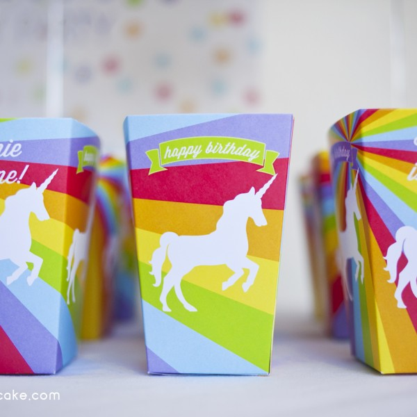 Rainbows And Unicorns Printable Birthday Party Paper And