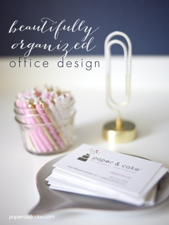beautifully organized office design