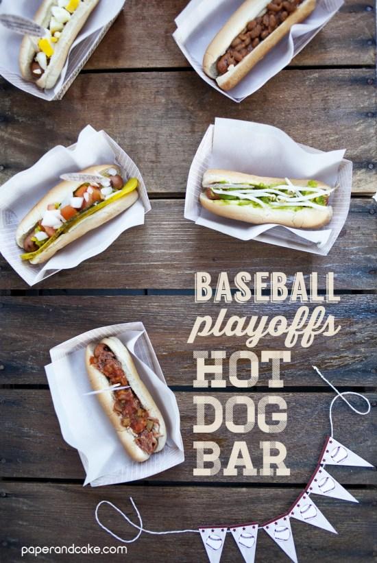 baseball team hot dog bar
