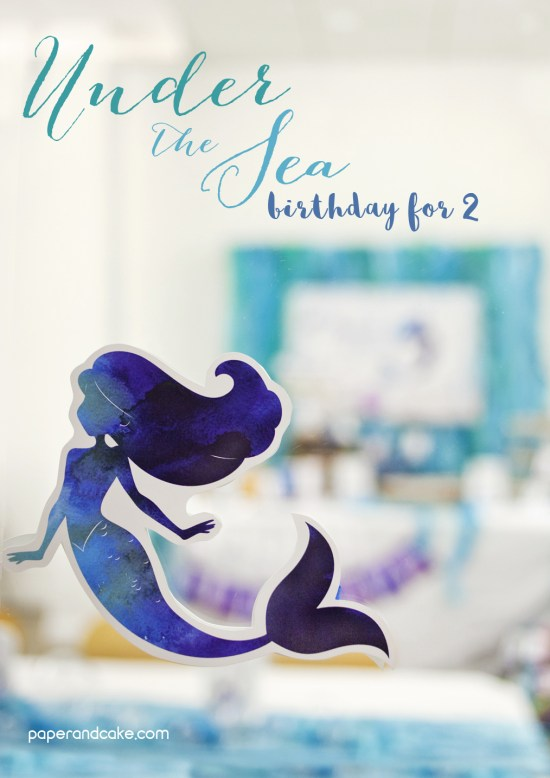 Mermaid Under the Sea printable birthday party
