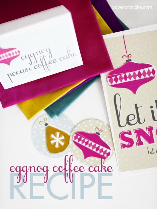 Egg Nog Coffee Cake Recipe